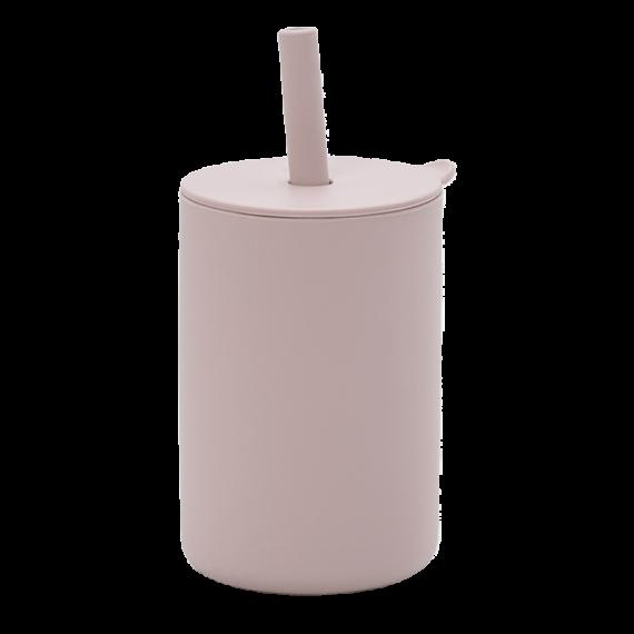 Copo com canudo de silicone